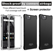 Airbag version For Blackberry keyone Case with Screen Protector IMAK Soft TPU silicone Back Cover For Blackberry Mercury DTEK70(China)