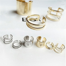 JZ234 3 pcs/lot  Shiny Punk Polish Gold Color Stack Plain Band Midi Mid Finger Knuckle Ring Set high quality Rock 2 colors