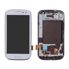 LCD display+Touch Screen+Digitizer full assembly repair part+frame+home button for samsung Galaxy S3 Neo i9300i  i9301i