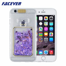 Facever Calling LED Flash Light Phone Case For iPhone 7 Plus 5.5 Perfume Bottle Glitter Stars Dynamic Liquid Quicksand Cover(China)