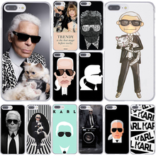 Fashion Karl Lagerfeld Green Hard Coque Shell Phone Case for Apple iPhone 7 7 Plus 6 6S Plus 5 5S SE 5C 4 4S Clear Back Cover