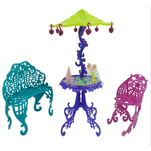 Amusement Bar Couch Chairs Table Dessert Sun Umbrella For Barbie Doll Accessories Kid Toy House Furniture For Monster High