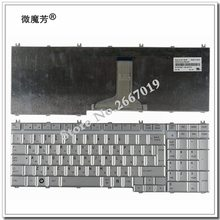 FOR Toshiba Satellite A500 P200 P300 L350 L355 L500 L505 X500 X300 A505 A505D F501 L535 P205 P505 RU laptop keyboard silver(China)