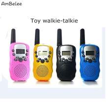 Ambelee 2pcs Mini Toy Walkie Talkie Children Handheld Radio Communicator Portable Wireless Walkie-Talkie Outdoor Convey Toys