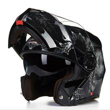 Tanked Racking Black night of ghost open face motorcycle helmet motorbike flip up moto off road motocross helmets safety cap(China)