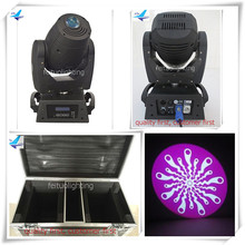 (4lot/CASE)Light and music equipment led moving head spot 150w gobo moving head stage light flight case(China)