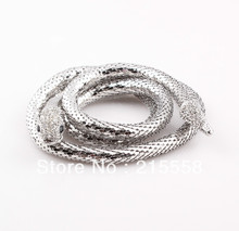 Flexible 10mm Trendy Snake Necklace European Punk Style Hip Hop Snake Statement Necklace Jewelry ZN41