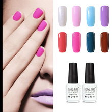 BELLE FILLE 8ml Professional UV Nail Gel Polish Clear Color Coat DIY acrylic Nail Primer fingernail polish manicure maquiagem