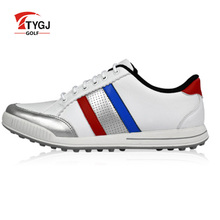 Golf Shoes Men Waterproof convenient comfortable knob system waterproof genuine leather spikers screw locking device sneakers