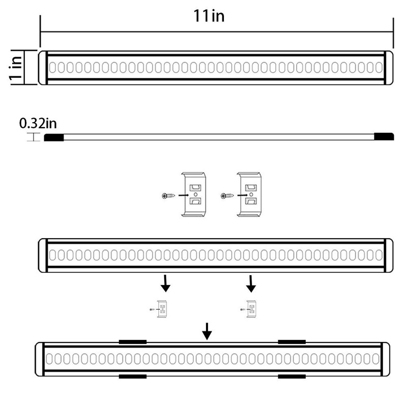 LED Puck Lights Kit Rigid Bar62