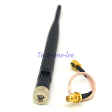 10 piece/lot 2.4 GHz 5dBi 802.11b/g WiFi Antenna Aerial RP-SMA Male +SMA male to RP SMA female Pigtail cable RG316 15cm(China)