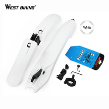WEST BIKING Mudguard Bike Plastic Bicycle Fenders With LED Taillight Cycling Mountain Fender Bike Guard Bicycle Cycling Fenders(China)