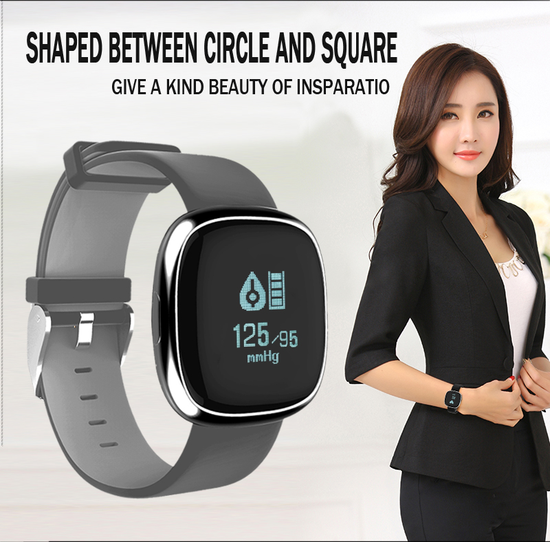 New Smart Wristband P2 Blood Pressure Heart Rate Monitor Smart Band Pedometer Sleep Sports Tracker for IOS Android Waterproof 5