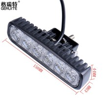 1PCS 18W 12V LED Daytime Running Light Fluorescent Light for Car Indicator Motorcycle Driving Offroad Tractor Truck 4x4 SUV ATV