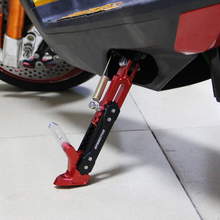 Electric Motorcycle Adjustable Side Support Parking Foot Universal For Yamaha Suzuki Honda Benelli Aprilia Triumph Support 500kg