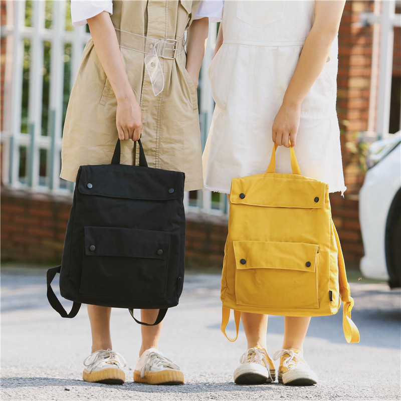 Menghuo Brand Female Women Canvas Backpack Preppy Style School Lady Girl Student School Laptop Bag Cotton Fabric bolsasSRDO2924