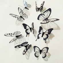 3D Butterfly Wall Sticker Colorful Decals for Home Decor On Wall Fridge Kitchen Room Living Room