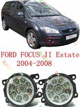 For FORD FOCUS II MK2 Estate   2004-2008   car styling led Refit fog lights lamps  12V  2 PCS  White Blue Yellow