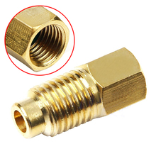 "R12 To R134a Brass Fitting Adapter 1/4"" Female Flare With O-ring X 1/2"" Acme Male For R134a Gauges R12 Vacuum Pump Mayitr(China)"
