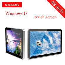 49 inch wall mount touch screen digital signage video advertising display full HD led commercial advertising display Windows I7(China)