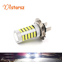 Buy 1x Car led H7 12W 66 SMD 12V Bulb Super Xenon White Fog Lights High Power Car Headlight Lamp parking Car Light DRL Car styling for $2.30 in AliExpress store