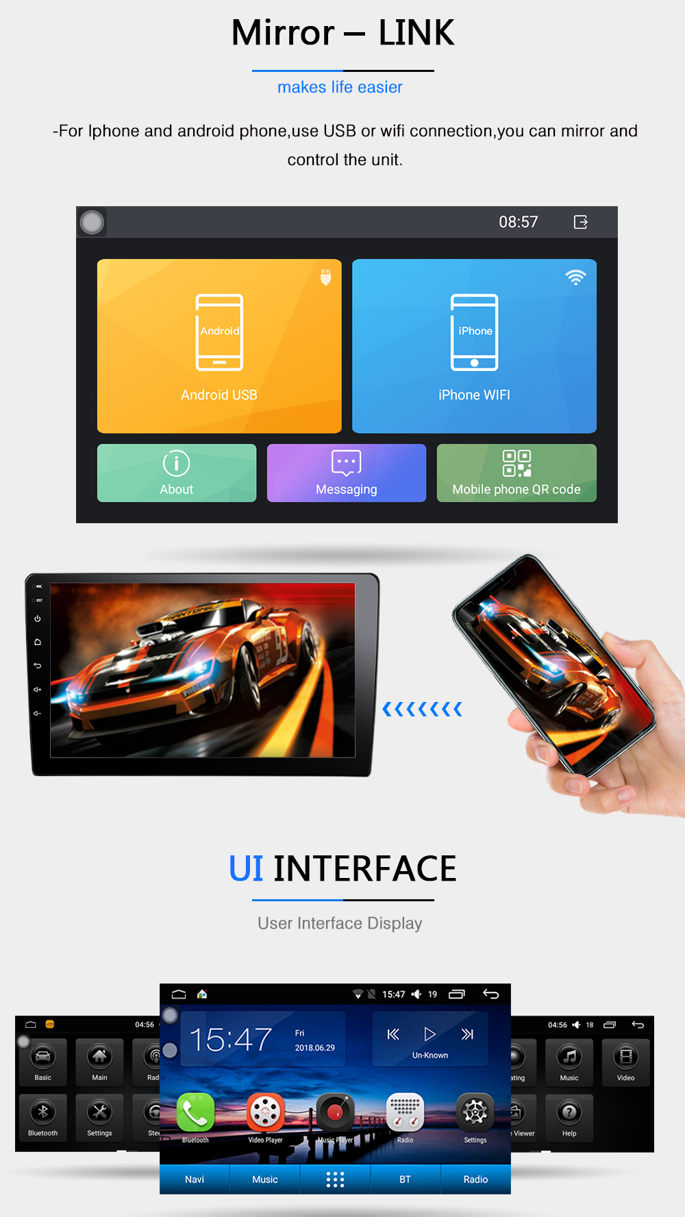 B10 ADZ9071 android 8.1 car dvd for vw passat b7 b6 golf 5 polo tiguan octavia rapid fabia with gps navigation radio player