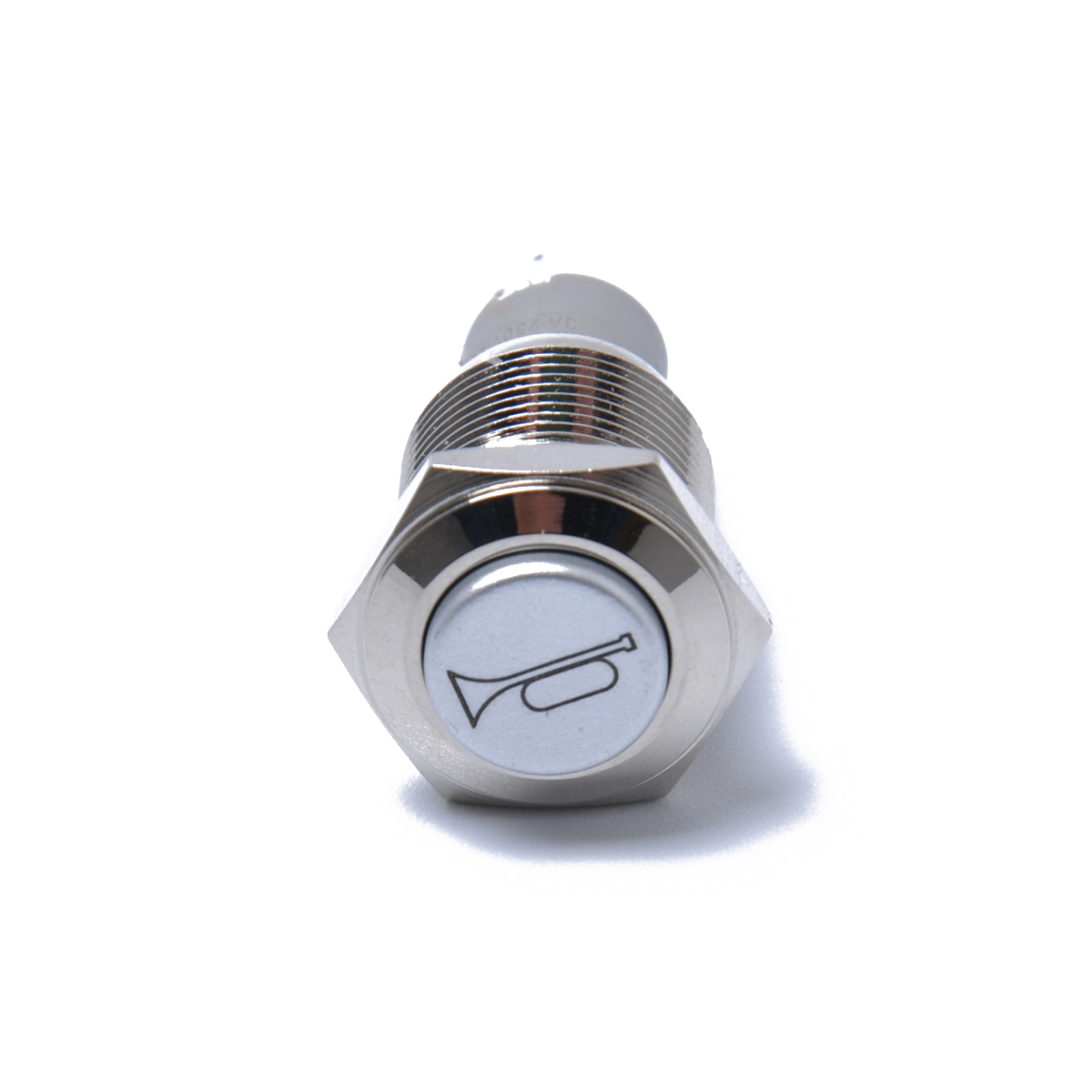 Viping Push Button Switch Car Horn Button Switch momentary Switch Connector 12V DIY Switch 16mm Red LED On//Off Reset Switch Button Metal Speaker Horn Switch Power Metal Toggle Switch Car Boat Moto