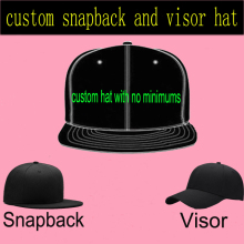 Custom Snapback Hat Flat 3D Embroidery for Adult Men Women Custom Made Cap Personalized Visor Adjustaball Baseball Caps(China)