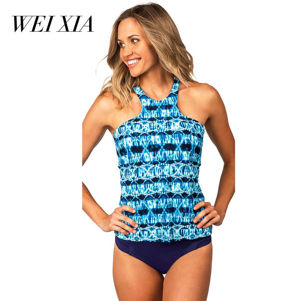 WEIXIA 2018 Cross string One Piece Totem Female 17051 Swimwear Wild Women Swimsuit Sexy Beach Swim Wear Hot selling Sexy girl <br>