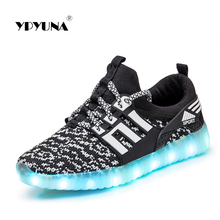 Size 25-37//USB luminous sneakers glowing kids children lighting shoes with led sneakers for girls&boys illuminated krasovki