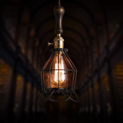 Loft Style Vintage Light Wrought Iron Pendant Lights Bird Cage Pendant Lamp Bar Cafe Vintage Pendant Light Contain Light Bulb<br><br>Aliexpress