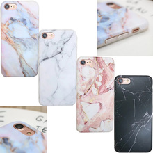 Attractive Elegant Pastel Marble Grain Pattern Back Cover Phone Case Shockproof Protective TPU Soft For iPhone 6 6s 7 Plus