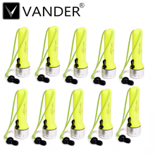 10pcs Neon Yellow&Silver Color Diving 600 Lumen underwater Torch Light Scuba Dive Flashlight Waterproof Professional flashlights(China)