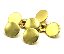 2016 New Rushed Buttons Scrapbooking Accessories Gold Flat Brass Button Up Shirt Coat Woolen Retro Style Buckle 30pcs