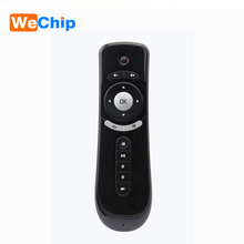 Wechip 5pcs Gyroscope Mini remote control Fly Air Mouse T2 2.4G 3D Sensing Air Mouse for tv box cs918 i68 z4 m8s t95 smart tv(China)