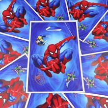 Spider Man Theme 100pcs Gifts Shopping Bags Happy Birthday Party Decoration Loot Candy Spiderman Bag Baby Boy Shower Supplies(China)