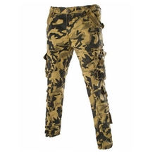 Army GreenSpring 2016 New Men's Fashion Casual European style Camouflage Spell Color Pocket Decoration Basic Models Cargo Pants(China)