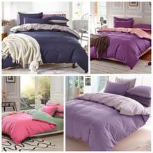 20 Colors 100% Cotton Modern Solid Color Bedding Blue/Green/Pink/Grey/Red Bedding set Bed covers/fitted sheet/duvet cover