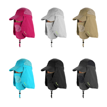 Folding Sun Cap Flap Hat 360 Degree Protection Sun Cap with Neck Face Cover for Men Women Camping Cycling Hiking Fishing Garden(China)