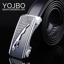 YOJBO Luxury Leather Men Belt Designer Belts Mens Brand High Quality Buckle 2017 Fashion Strap Genuine Leather Wide Male Waist