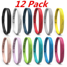 (12 Pack) For Fitbit Flex 2 Smart Watch Band Bracelet Soft Sport Silicone Wrist Strap For Fitbit Flex 2 Replacement Watchband(China)