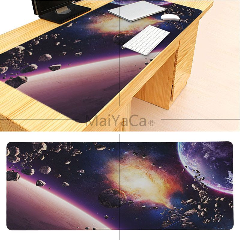 MaiYaCa Boy Gift Pad The Space Wallpaper Large Mouse pad PC Computer mat Good quality Locking Edge large Game Mouse Pad 5