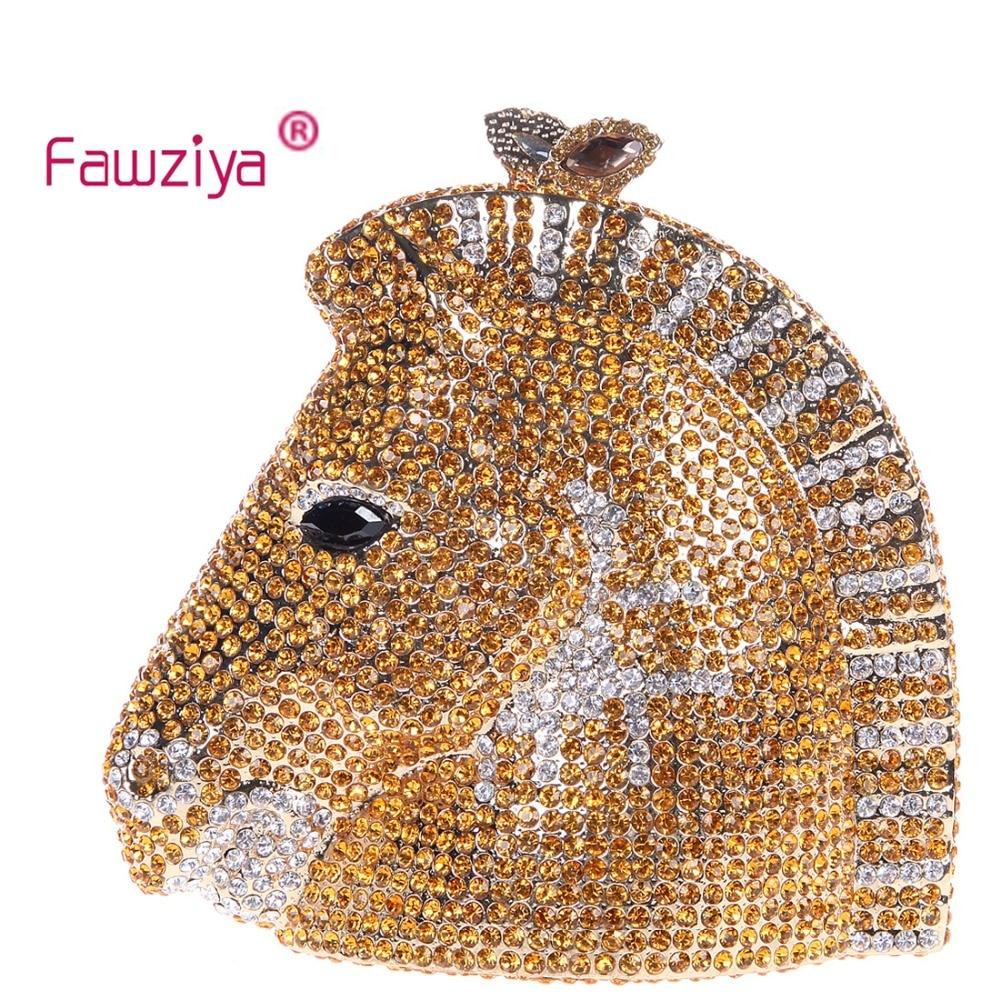 Fawziya Clutch Horse 3D Horse Head Rhinestone Clutch Purses Evening Bags And Clutches<br><br>Aliexpress