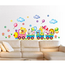 2016 New Arrivals Baby Kids Room Animals Wall Stickers Cartoon Train Decals DIY Decoration Hot Sale New