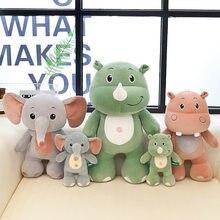 Anak-Anak Gajah Badak Kuda Nil Boneka Kawaii Boneka Mainan Turun Katun Mewah  Mainan Hewan Bantal Hadiah 4c6d6ee6b3