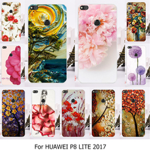 Phone Case For Huawei P8 Lite 2017 Case Hard Back Cat Cover Honor 8 Lite P9 Lite 2017 Nova Lite 5.2 inch Housing