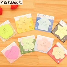 K&KBOOK Cute Kawaii Star Apple Post It Planner Stickers Memo Pad Sticky Notes Pads Stationery School Office Supplies Accessories