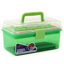 2 Layer Multi Utility Nail Art Storage Case Portable Detachable Transparent Cosmetic Brush Box Container Manicure Equipment Tool