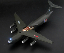 DYD Overlord Transport plane Aircraft model of children 's airplane toy simulation alloy model military model action toys