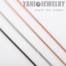 2016 Newest 4 colors Fashion Alloy Snake Chain Necklace Women 65mm Snake Chain fit Floating Locket Chain